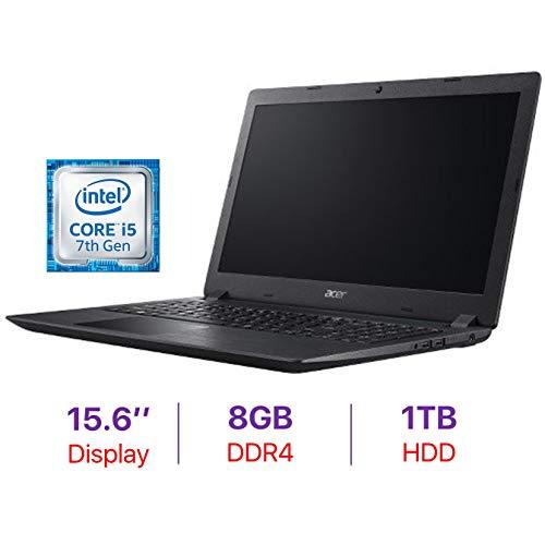 Acer Aspire 3 15.6-inch HD Laptop PC, Intel Core i5-7200U Processor 2.5GHz, 8GB DDR4 RAM, 1TB Hard Drive, Bluetooth, HDMI, Webcam, Stereo Speakers, Intel HD Graphics 620, Windows 10