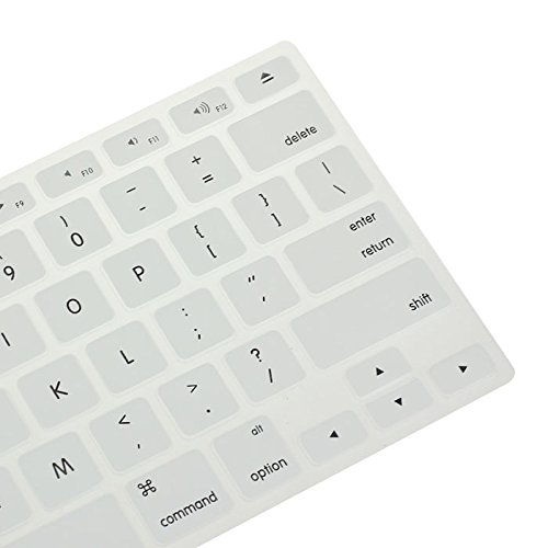 Price comparison product image Silicone Keyboard Skin Cover for Apple Macbook Pro Air Mac Retina 13.3 (White)