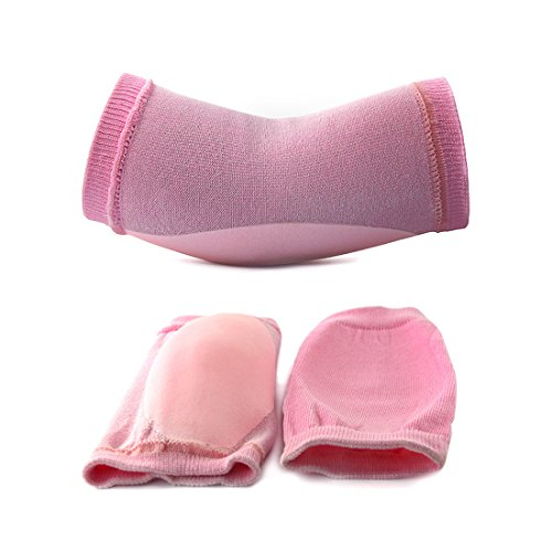 2 Pairs Soften Dry Cracked Skin Moisturizing Exfoliating Elbow Gel Cover Sleeves Pink by uxcell (Image #7)