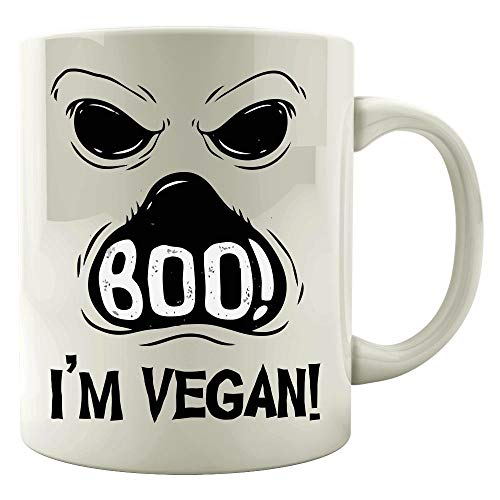 Funny Halloween - Boo I'm Vegan - Ghost Food Diet Humor - Mug