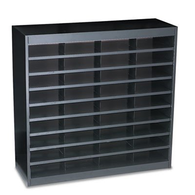 - Safco E-Z Stor Steel Literature Organizer - 36.5quot; Height x 37.5quot; Width x 12.8quot; Depth - Steel - Black