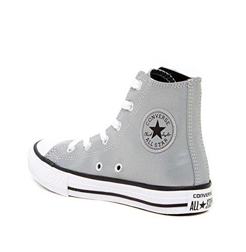 CONVERSE Chuck Taylor All Star Season Hi - Zapatillas de tela infantil Silver/White (Reflective)