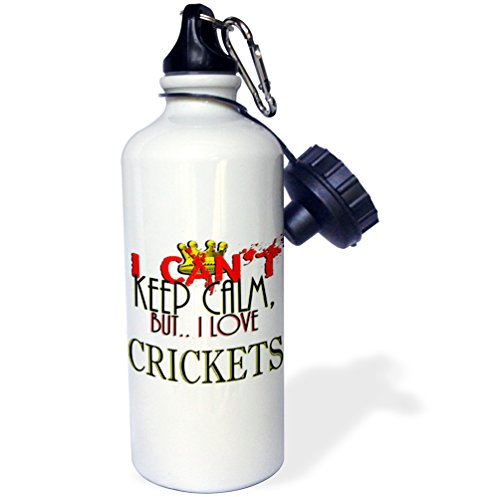 3dRose Blonde Designs I Cant Keep Calm, But I Love - I Cant Keep Calm, Crickets - 21 oz Sports Water Bottle (wb_241948_1) by 3dRose