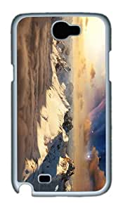 good cover winter mountains space sunset PC White case/cover for samsung galaxy N7100/2