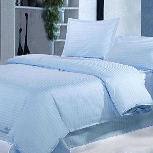 Lasin Bedding Luxury Soft 300 TC 100% Cotton, Hidden Zipper, Duvet Cover- 86'' x 86'' Queen/Full - Blue by Lasin Bedding