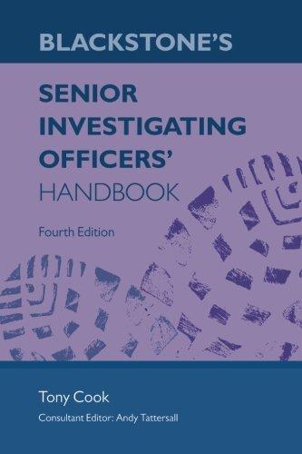 Blackstone's Senior Investigating Officers' Handbook