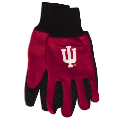 NCAA Indiana Hoosiers Two-Tone Gloves, Red/Black