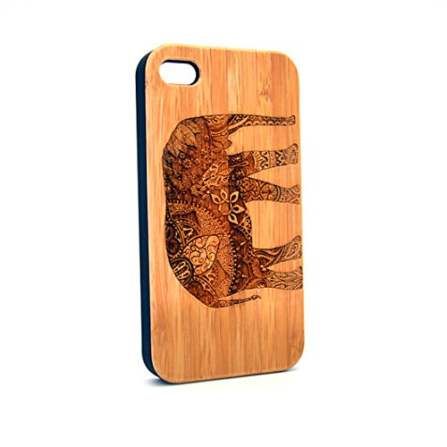Krezy Case Real Wood iPhone 6 Case, Elephant iPhone 6 Case, Wood iPhone 6 Case, Wood iPhone Case,