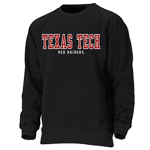 (NCAA Texas Tech Red Raiders Mens Crewneck Sweatshirt, Xx-Large, black, 2X)