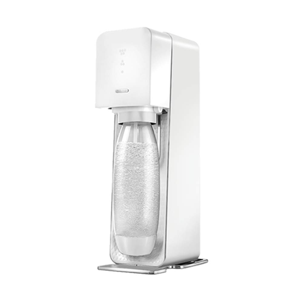 Compatible with CO2 Cylinder Soda Sparkling Water HOPELJ Sparkling Water Maker Manufacturers of Mineral Water Drink Machines for Home Tea Shop Use,Red ABS Housing Including 2 PET Bottles