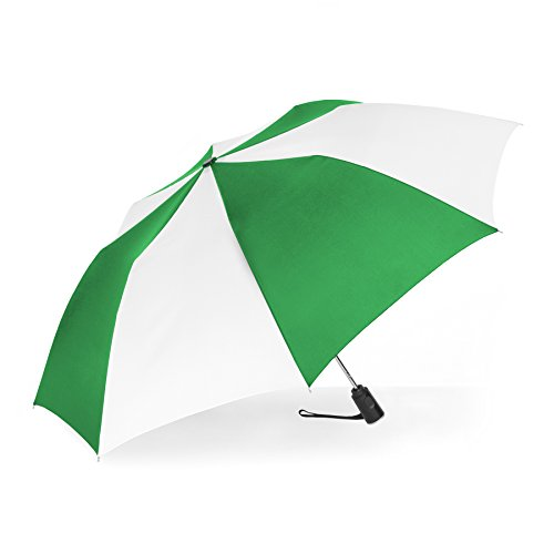 ShedRain Auto Open Compact Umbrella: Kelly Green & White