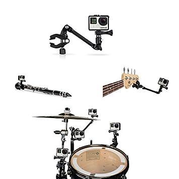 360 grados de música ajustable de montaje Guita Tambor Soporte para Gopro Hero 5 4 3