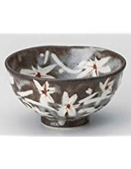 Momiji 4 4inch Set Of 5 RICE BOWLs Grey Ceramic Made In Japan