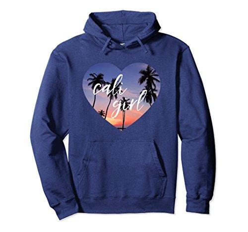 - Unisex Cali Girl Cute California Hoodie, CA Travel Gift Medium Navy