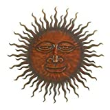Sweet Smiling Sun Metal Wall Hanging Art 24 ""