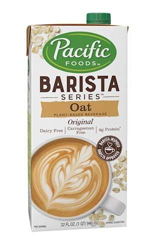 Pacific Natural Foods Oat Milk Barista Series-Non-Dairy Gluten Free- 32 oz ea- case of 4 by Pacific