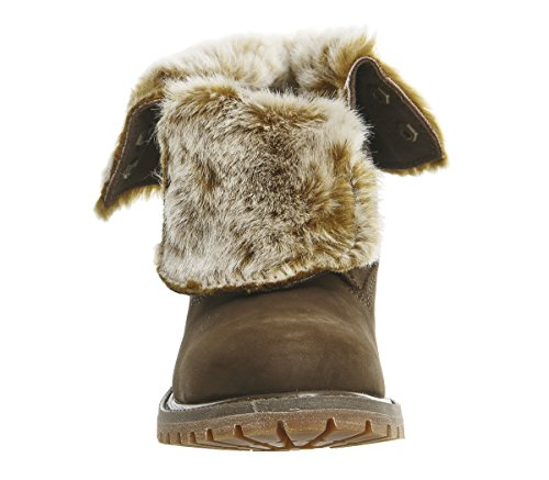 Authentic Fur Mujer Botas Verde Down Roll Timberland Canteen Faux dqgxpwPdWT
