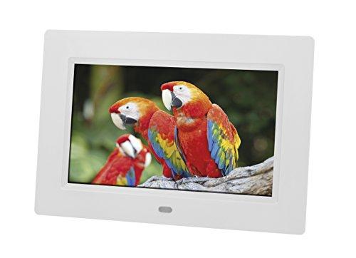 Rollei Degas DPF-70 digitaler Bilderrahmen 7 Zoll (17,8 cm) Display, SD Kartenslot und Fernbedienung - Weiß
