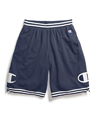 (Champion Life Men's Rec Mesh Athletic Short (C Patch/Imperial Indigo, Medium))