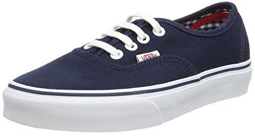 Vans Authentic - Zapatillas, Unisex adulto Azul (Twill & Gingham/Dress Blues/True White)