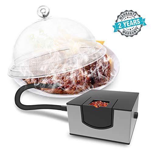 Wancle Smoking Gun Food Smoker Infusion Smoker for Sous Vide Meat Grill BBQ Silver ()