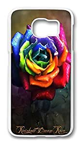Brian114 Case, S6 Case, Samsung Galaxy S6 Case Cover, Color Of Roses Retro Protective Hard PC Back Case for S6 ( white ) Kimberly Kurzendoerfer