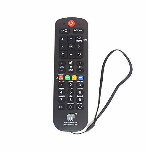 (LuckyStar Universal Streaming Remote Control Work (2 in 1) for Main TV Main Streaming Box, Roku 1 2 3, Apple TV, Vizio LG Samsung Smart TV (URC1518) with Learning Function)
