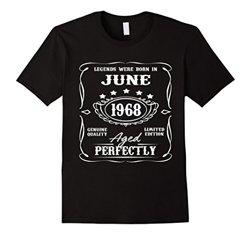 Legends were born in June 1968 t-shirt for 50th - Mens Born T-shirt