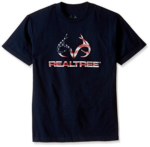 - Realtree Americana Horns Screen Print Tee, XX-Large, Navy