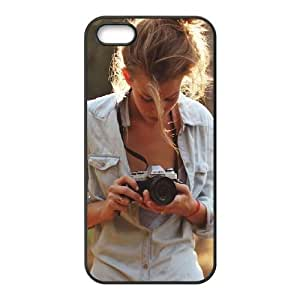 iPhone 5 5s Cell Phone Case Black Girl Photographers SLI_775858