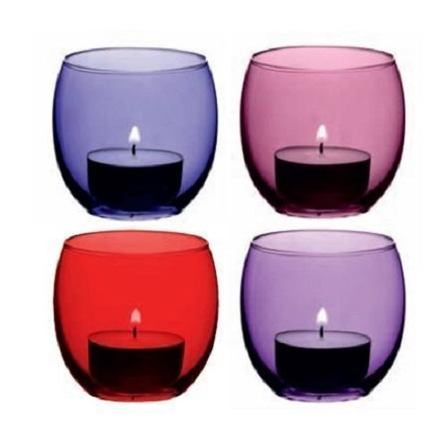 LSA International Coro Votive Holder, H2.5, Berry Assorted X 4, Purple (Holder Candle Berry)