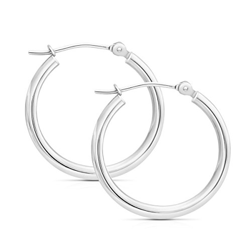 14k Gold Classic Hoop Earrings, 0.6