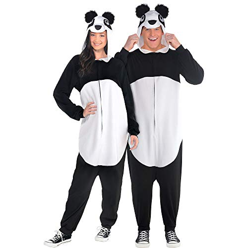 Party City Zipster Panda One Piece Halloween Costume for Adults, Large/X-Large -