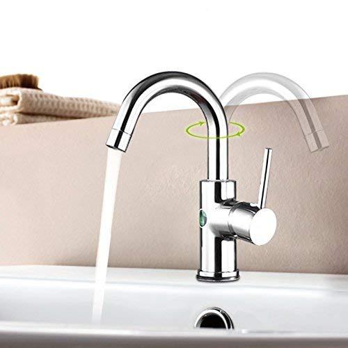 JingJingnet 洗面台の蛇口の浴室の流しのコックの純鉛洗面器の蛇口、洗面台の浴室のホット&コールド真鍮タップ、冷暖房 (Color : B) B07RJHYMF6 B