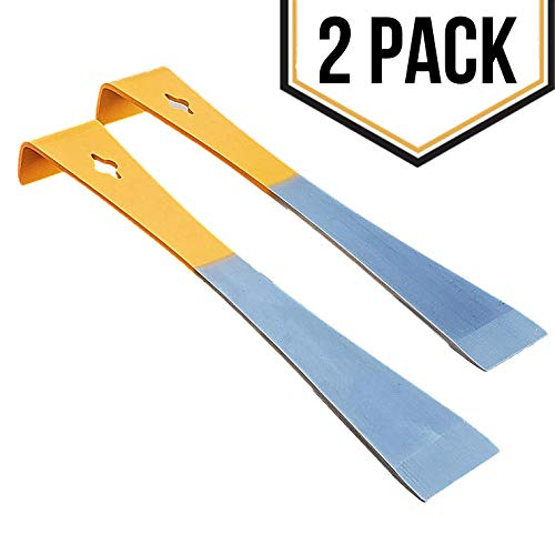 2 Pack - Stainless Steel Orange Hive Tool Set for Prying Beekeeping Boxes Apart and Lifting and Scraping Frames