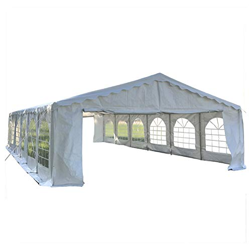 Cheap DELTA Canopies Budget PVC Party Tent Canopy Shelter 40'x20′ – White
