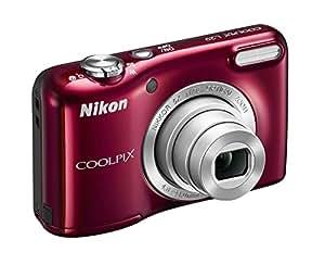 """Nikon NCL117 - Cámara compacta de 16.1 Mp (pantalla de 2.7"""", zoom óptico 5x), rojo (importado)"""