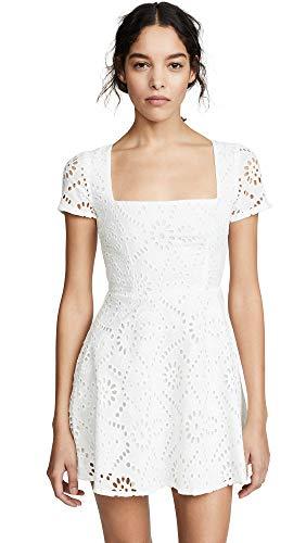 Flynn Skye Women's Maiden Mini Dress, White Eyelet, - Voile Cotton Eyelet