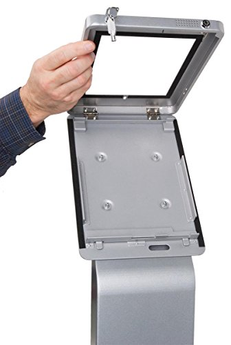 Displays2go Floor Standing iPad Pro 10.5'' Kiosk with Locking Enclosure – Silver (IPRO105STBK) by Displays2go (Image #3)