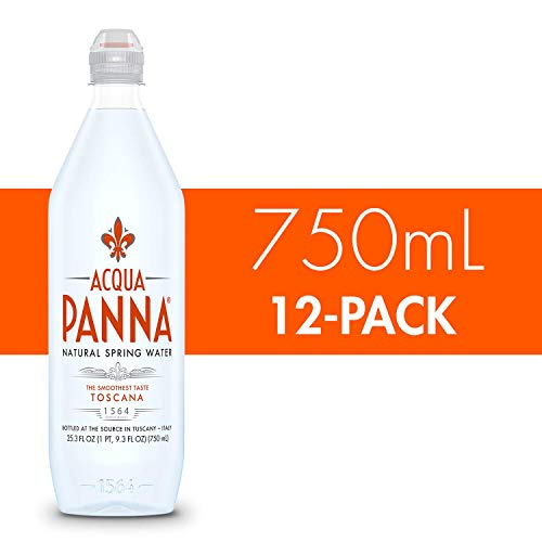 Acqua Panna Natural Spring Water, 25.3 Fl Oz. Plastic Bottles (12 Pack)