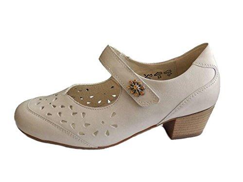 Waldläufer - Zapatos de vestir de Piel Lisa para mujer beige perla