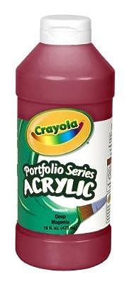 Crayola Portfolio Series 16-Ounce Acrylic Paint, Deep Magenta