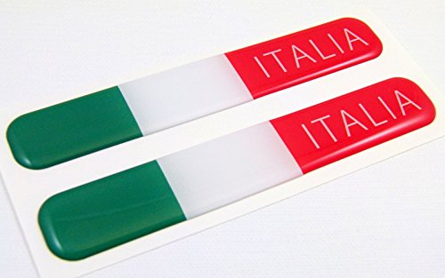 Italy Italian italia Flag Domed Decal Emblem Resin car stickers 5
