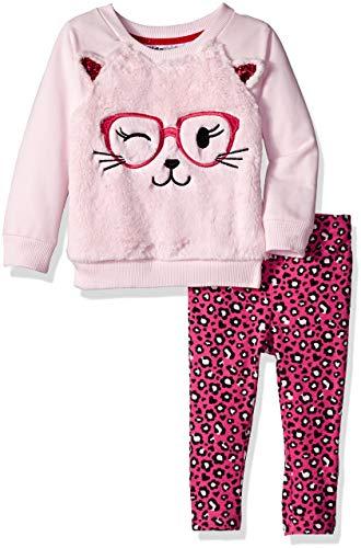 Kids Headquarters Baby Girls 2 Pieces Legging Set-Faux Fur