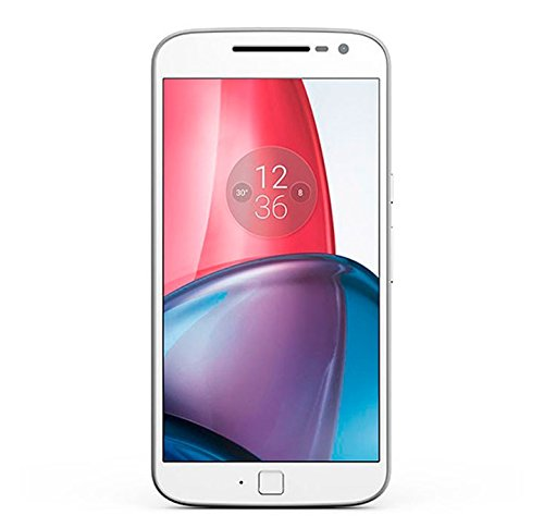 Motorola XT1641 Moto G4 Plus Dual Sim 32GB White GSM ONLY, Factory Unlocked, (International Model) (White)