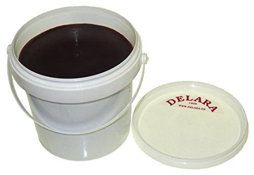 DELARA Pflegebalsam für Leder mit Jojoba und Bienenwachs, 500 ml, braun - Made in Germany