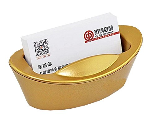 Kangkang @ Useful Business Card Holder Durable Shoe-shaped Gold Ingot Card HolderGreat Gift Gold ingot a thriving business card holder