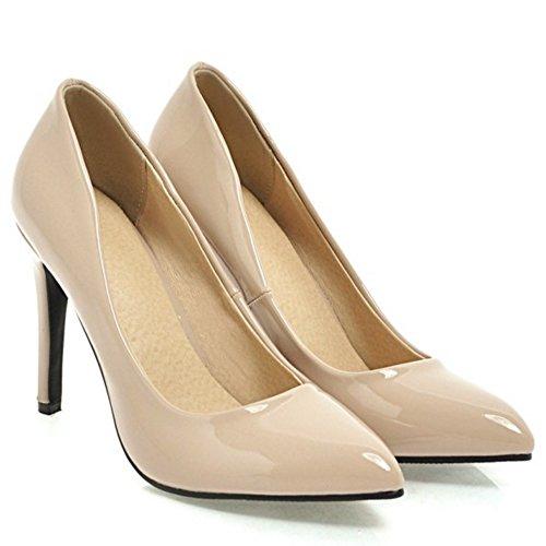 VulusValas Escarpins Pointu Femmes Chaussures Beige T7qrT18w