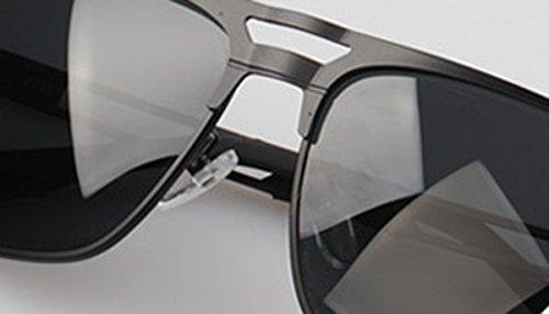 Poche Couduite Métal Dehang OFFERT UV400 Etui Vintage et Soleil de verre pour Noir Homme Lunettes Sport wY7wqFa