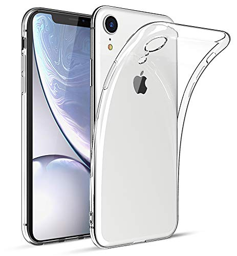 HiZiTi iPhone XR Case, Thin Ultra-Slim Fit Crystal Clear Transparent Flexible TPU Phone Case Cover Compatible for iPhone XR(6.1) - Transparent Clear